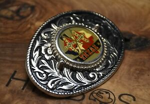 Texas Western Belt Buckle Silver Colour Made in USA