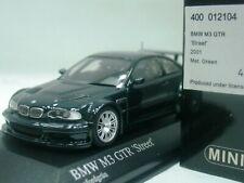 WOW EXTREMELY RARE BMW E46 M3 GTR 4.0 V8 32V 2001 Oxford Green 1:43 Minichamps