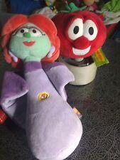 Vintage Plush Veggie Tales Lot  talking Bob Tomato and  Princess Petunia