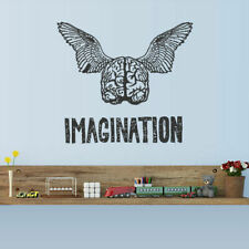 Wall Decal Vinyl Sticker Brain Genius Smart Mind Wings Idea Imagination (Z2965)