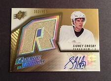2005-06 SPX SIDNEY CROSBY Penguins Autograph Jersey Rookie Card 353/499 BV $500