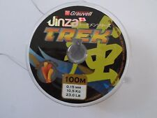 LOT DE 2 BOBINES GRAUVELL Jinza TREK MARRON 100M X2 0.15 mm 10,5 kg 23 lb