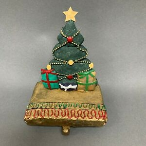 "Christmas Tree Stocking Holder about 6"" high"