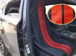 Throw Over Slip On GT Car Seat Cover Fit Car Truck Pickup Black Red