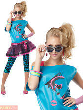 Ladies Valley Girl Costume Adults 80s Cindy Katy Perry Fancy Dress 1980s Outfit