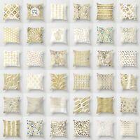 Golden Plants Throw Pillow Case Cushion Cover Line Home Decor Polyester 18''