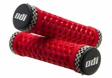 ODI VANS LOCK ON BONUS PACK SNAP CAP W/PLUGS BMX MTB RED CHECKERED GRIP BICYCLE