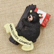 Canada Flag Bear Fridge Magnet Refrigerator Souvenir Ornament Sticker Home Decor