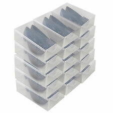 15x Cajas Almacenaje Zapatos PP368T Apilable Plegable Organizador Transparente
