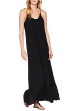 1529e7f2479 Michael Stars Women s Double Gauze Front-to-back Maxi Dress Black Large