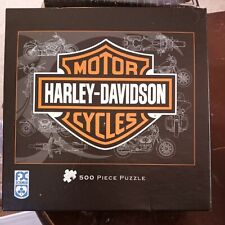 Fx Schmid Harley Davidson Motor Cycles 500 Piece Puzzle Shield New!