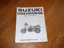 SUZUKI GSX1100 ESE SET-UP MANUAL. 1984