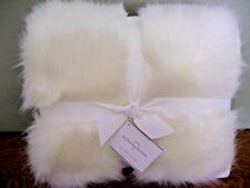 "Pottery Barn Sun Bear Faux Fur Throw Ivory 50"" x 60"" ~ NEW WITH TAG"