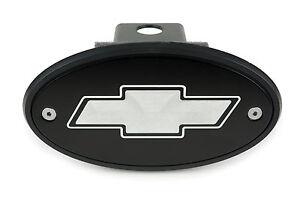 Chevrolet Bowtie Receiver Hitch Cover Black Silver Engraving Suburban Colorado