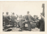 WWII 1945 US Army GI's Okinawa Photo #6 77th Div band playing during Inf chow