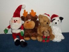 CHRISTMAS PLUSH TOYS - MIXED LOT OF 4