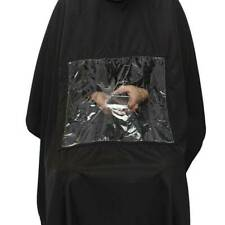Salon Barber Hair Cutting Gown Cape With Viewing Window Hairdresser Apron Newly