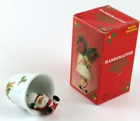 Vintage Handcrafted Santa Claus Ceramic Christmas Bell Ornament, China