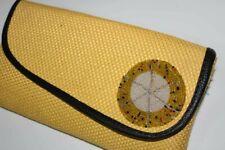 African maasai handmade fabric fold over bead  Beige clutch Handbag