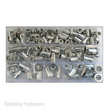 Aluminium Metric Grooved Threaded Insert Riv Nut Rivet Nuts - M4 M5 M6 M8