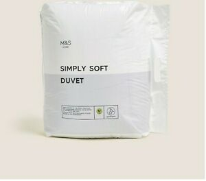 Ex M&S Simply Soft All Seasons Duvet 13.5 Tog (4.5+ 9 tog) SUPER KING NEW UP D