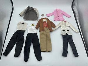 BARBIE DOLL KEN CLOTHING CLOTHES LOT -  WEDDING SUIT TUXEDO TUX VEST SHOES COAT