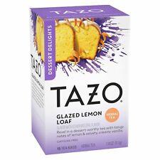 TAZO TEA GLAZED LEMON LOAF DESSERT DELIGHTS Herbal Organic (15 bags x 1 box)
