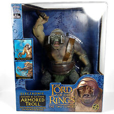 Lord of The Rings Electronic ARMORED TROLL Action Figure LOTR  oy Biz 2003