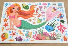 Mermaid Wall Stickers Decal Kids Boys Girls Room Decor Home Mural Little  HR5X