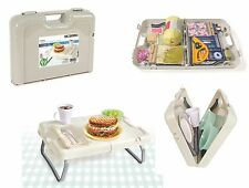 Folding Table Storage Box Crafts Picnics Arts Kids Food  Auto Organizer Case
