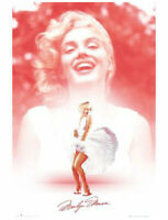 Marilyn Monroe 24 In x 36 In Blue Dress Holding Flower Poster