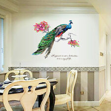 DIY Wall Decoration Chinese Style Peacock TV Background Removable Wall Stickers