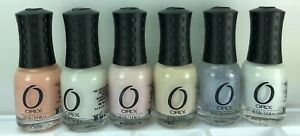 6 Orly Miniature Nail Polish White Pink Peach Beige Petite French Manicure