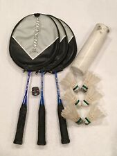 LOT OF 3: DUNLOP SPORT MAX JUNIOR BADMINTON RACQUET RACKET W/ CASE & SHUTTLECOCK