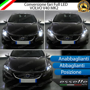 CONVERSIONE FARI FULL LED VOLVO V40 MK2 16000 LUMEN 6000K BIANCO GHIACCIO