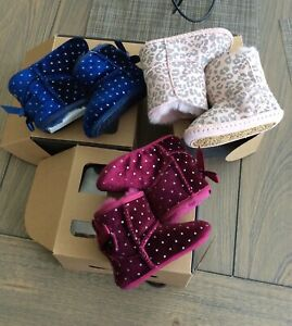 UGG Australia Jessie bow starlight and Cassie leopard infant bundle lot size 2/3