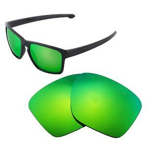 New Walleva Emerald Polarized Replacement Lenses For Oakley Sliver XL Sunglasses