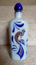 German Corked Bottle, Blue Glaze Stoneware Design by Zoller