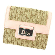 Dior Wallet Purse Folding wallet Trotter Beige Brown Woman Authentic Used T1712