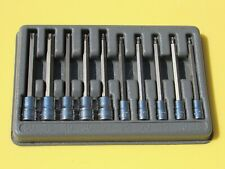 Snap On 210eftxl T8 T50 10 Pc Long Torx Driver Socket Set 14 Amp 38 W Tray