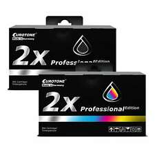 4x Eurotone PRO Patrone 2+2 für HP Photosmart C-4599 DeskJet D-4360 D-4260