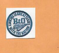 "B & O RAILROAD DECAL STICKER  1 3/8"""