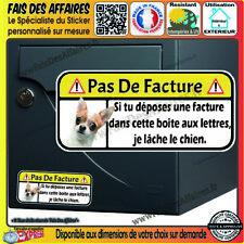 Stickers Autocollant pas de pub humour pas de facture  boite aux lettres chien