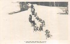 RPPC HUSKY DOG SLED RIDE GROUSE MOUNTAIN VANCOUVER BC CANADA REAL PHOTO POSTCARD