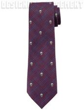 ALEXANDER MCQUEEN mens PRINCE OF WALES Check & SKULL silk tie NWT Authentic $195