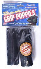 GRIP PUPPIES Motorcycle Handlebar Foam Comfort Grip Covers Black >NEW<