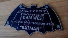 CUSTOM 1966 BAT UTILITY BELT DISPLAY NAME PLATE BATMAN TV SERIES