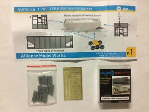 1/700 ALLIANCE MODEL WORKS NW70049 : 6 WAGONS TREMIE OUVERTS US RAILWAYS