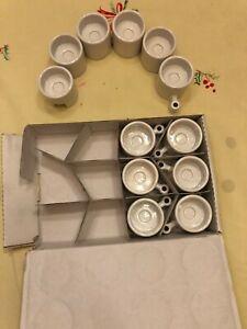 Ikea PS Varmeljushallare Interlocking White Ceramic Tealight Candle Holder NEW
