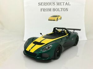 AUTOART 75392 LOTUS 3  ELEVEN ROADSTER IN  GREEN and YELLOW 1:18 SCALE